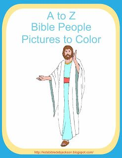 Bible Fun For Kids: A to Z Bible People Pictures to Color