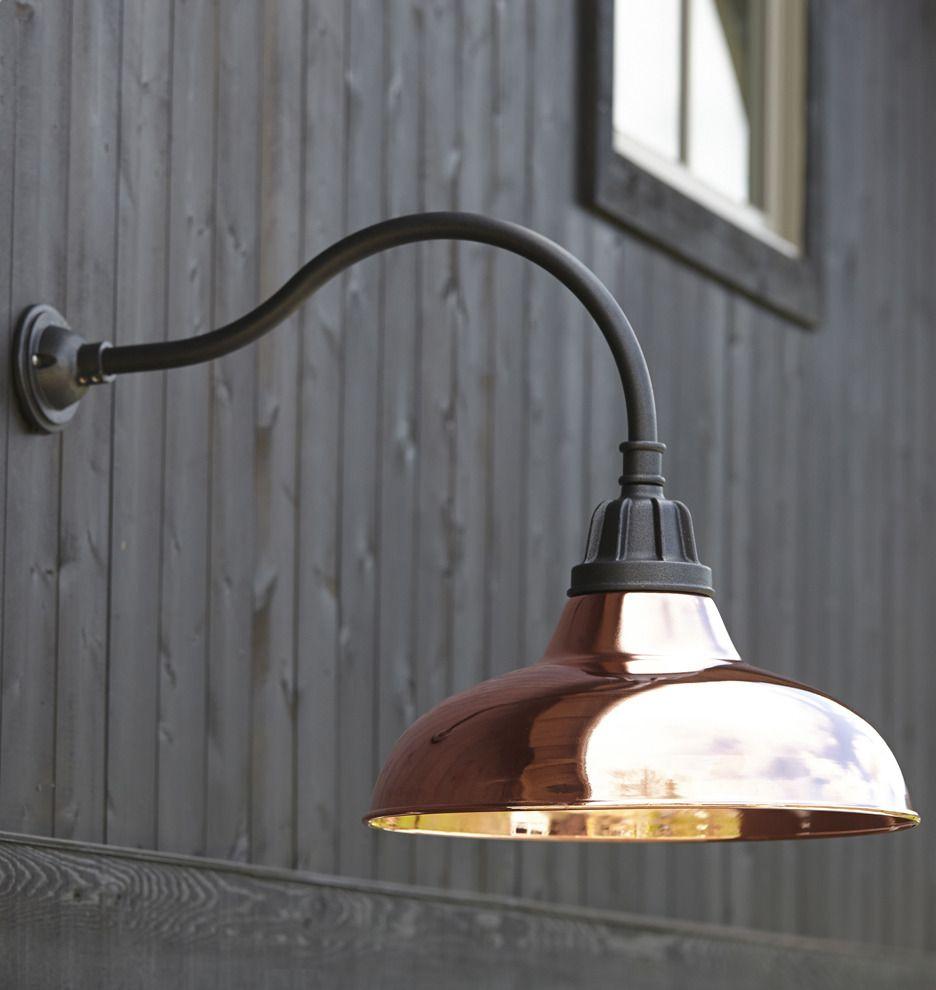 Carson Gooseneck Wall Mount Rejuvenation Outdoor Barn Lighting