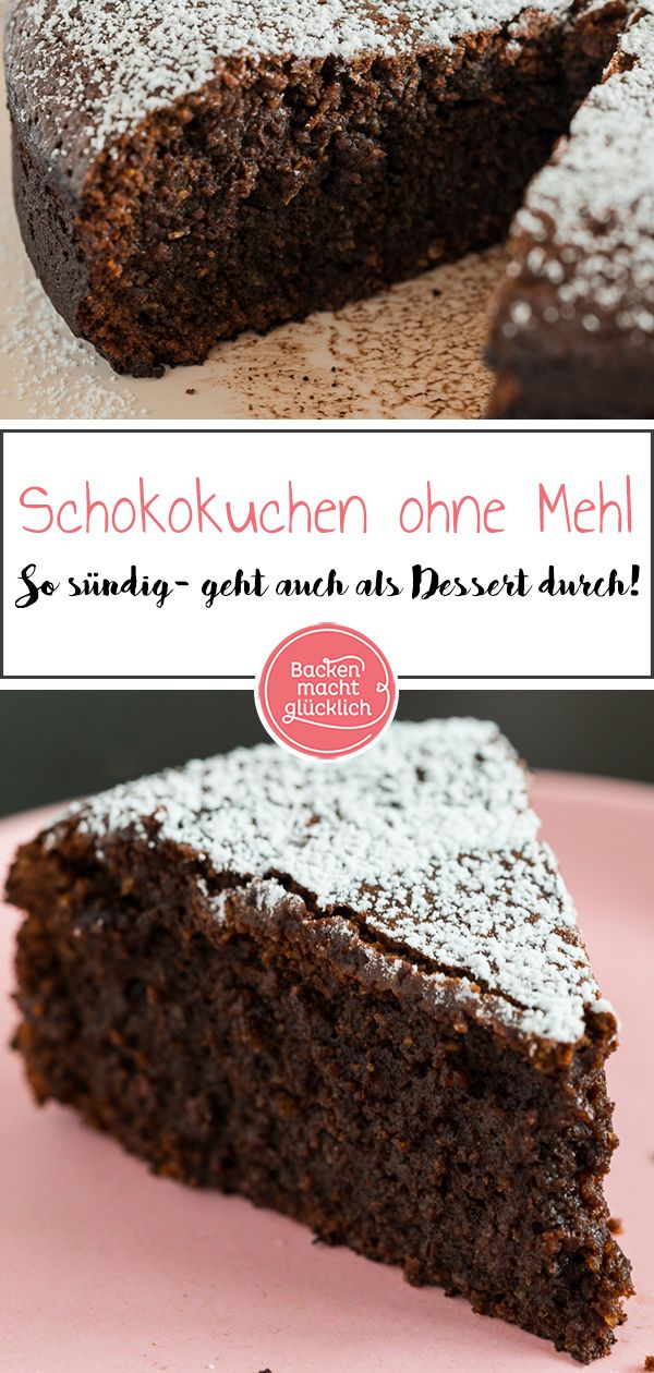 Schokoladenkuchen ohne Mehl | Backen macht glücklich
