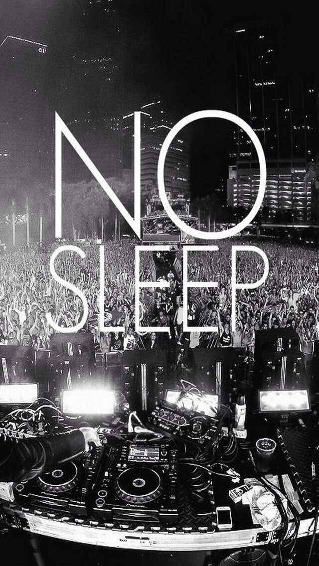 No sleep wallpaper for iPhone 5c Passion music, Iphone