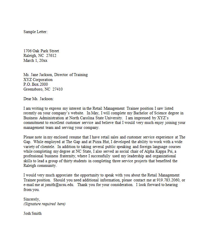 Sample cover letter a great starting point for your first for How to start out a cover letter