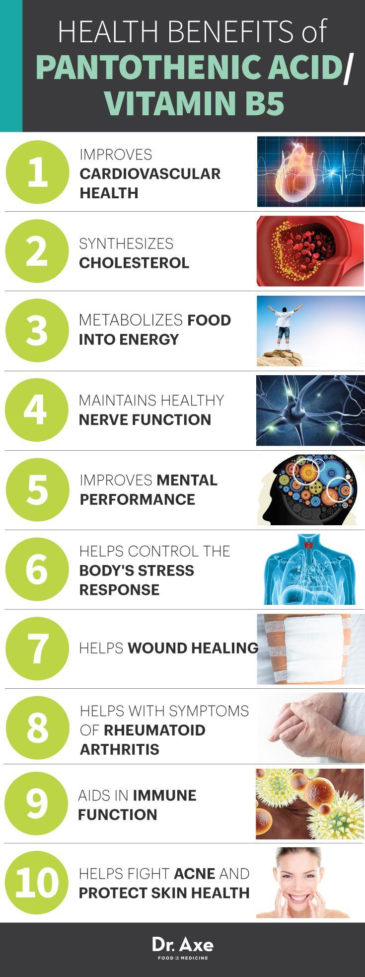 The Health Benefits of Vitamin B5