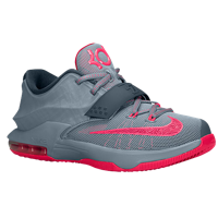c97d3a812375 Nike KD 7 - Boys  Grade School - Grey   Pink