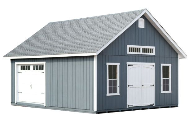 20 X 24 Elite Cottage Garage T 1 11 Siding Carriage Style Overhead Door With Stockbridge Glass Upgrade 6 Taller Walls Windo Farm Shed Shed Garage Design
