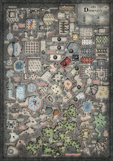 Dead In Thay Doomvault Poster Map Dm Version With Images