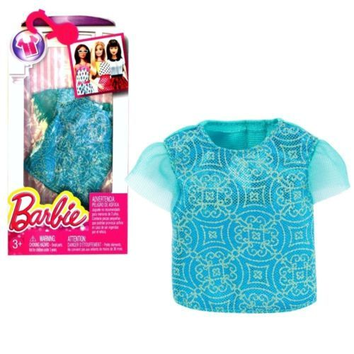 New 2016 Barbie Fashionistas Fashion Pack Seperates Turquoise Amp Gold Top Fashion Barbie American Girl Doll Sets