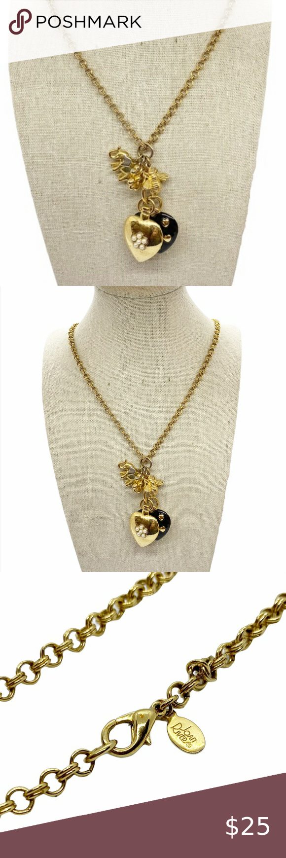 with chain pendant 36 long Crystal  bead necklace gold tone chain