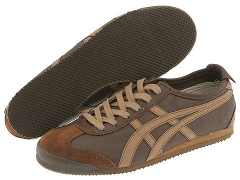 best sneakers 60d5c 995ef Onitsuka Tiger by Asics Mexico 66® Dark Brown/Brown - Zappos ...
