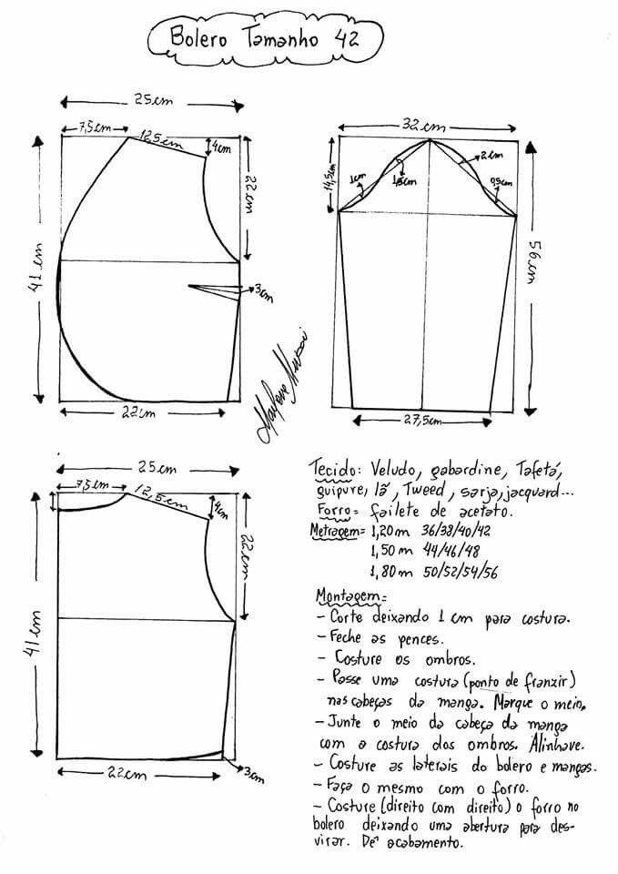 Bolero Marlene mukai. | sewing | Pinterest