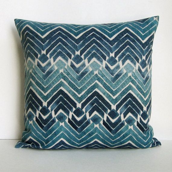 Teal Pillow Cover Teal Blue Pillow Geometric Turquoise