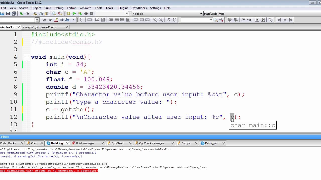 C programming tutorial user input with getche function chap 2 c programming tutorial user input with getche function chap 2 part baditri Gallery