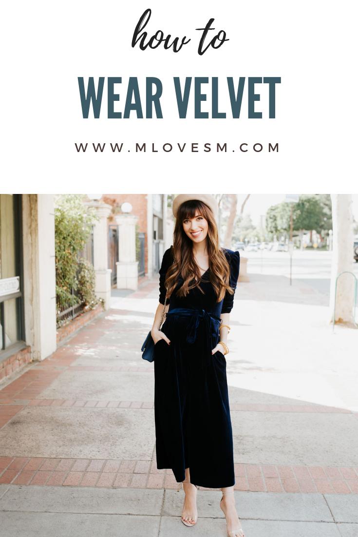 049421c39244 I m sharing my favorite ways to wear velvet this fall and winter! Velvet