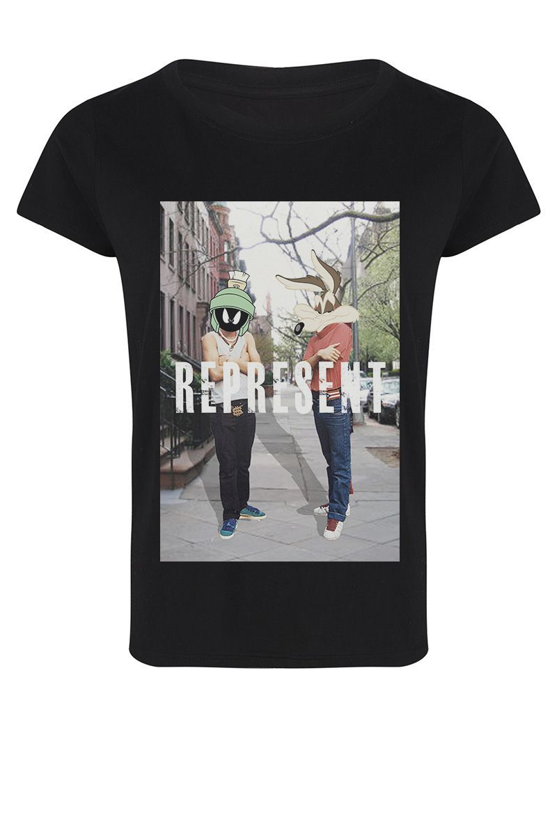 WEPRESS black t-shirt - Women - Eleven Paris