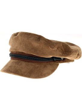c3958a1672ef3 A picture of the Brixton Fiddler Hat in Brown Corduroy