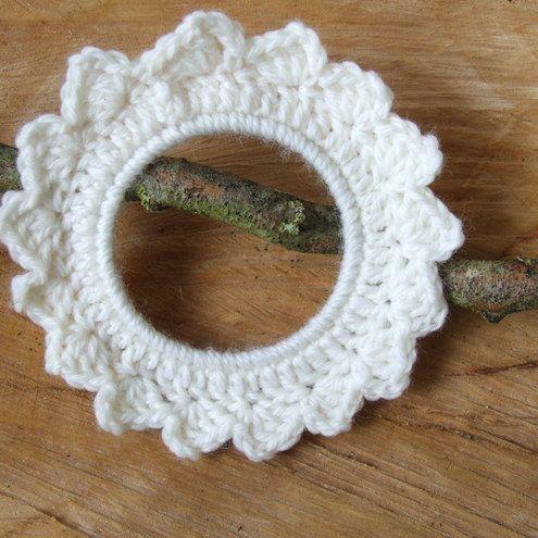 Photo of Crochet wreath, crochet hoop, wall decoration