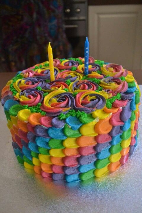 Rainbow petal cake food pinterest rainbow petal cake for Rainbow petals