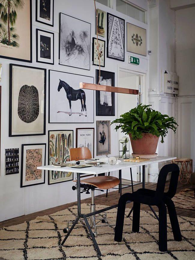 10 sch ne arbeitspl tze zu hause gallerywall haus bilderwand und wohnung m bel - Bilderwand skandinavisch ...