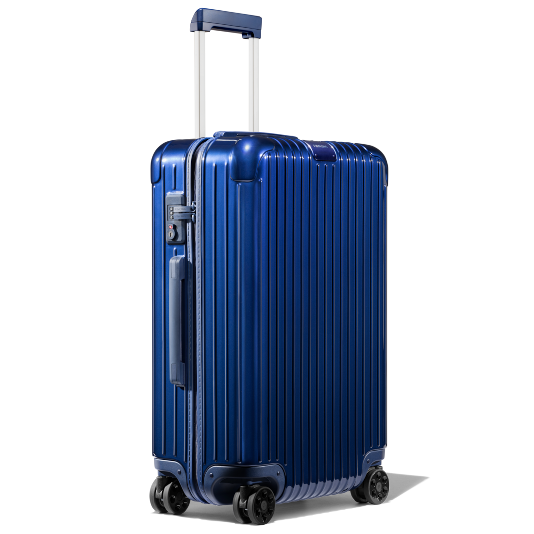 Essential Check In M Lightweight Suitcase Blue Gloss Rimowa Rimowa Luggage Lightweight Suitcase