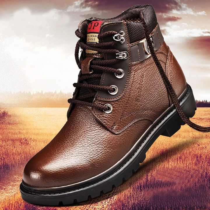 Leather snow boots, Mens snow boots