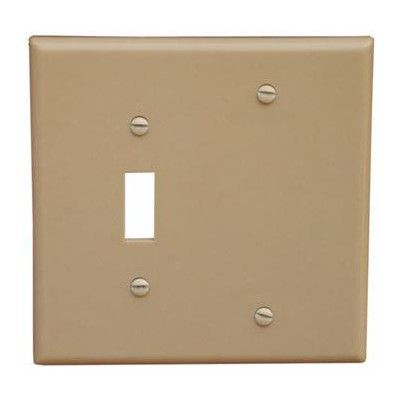Morris Products 2 Gang 1 Toggle 1 Blank Lexan Wall Plates Blank in Ivory (Set of 6)