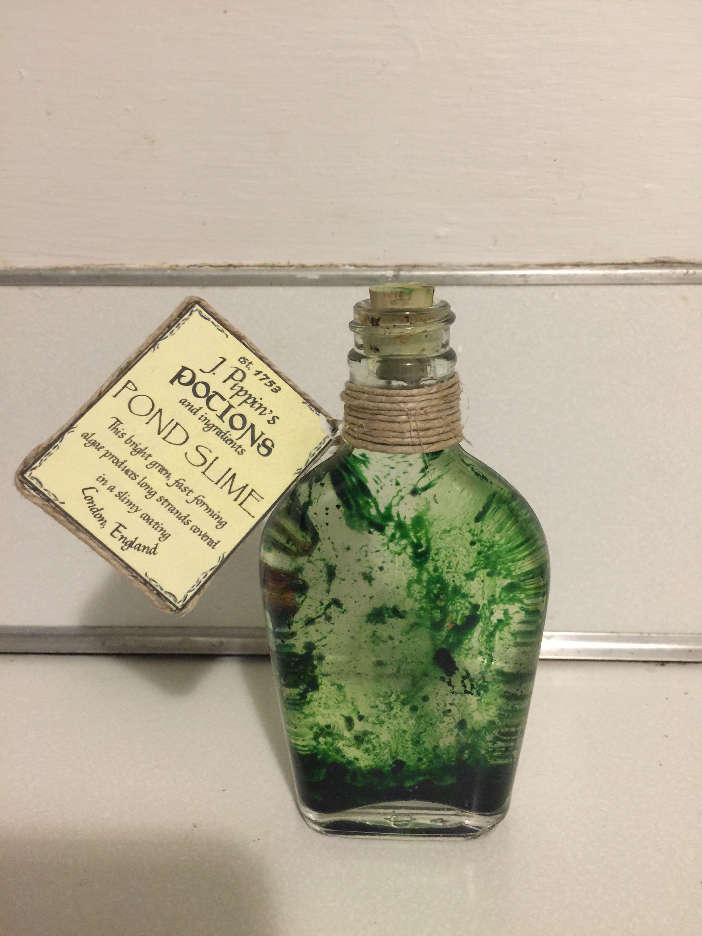 How To Make Slime With Vegetable Oil : slime, vegetable, Slime., Vegetable, Coloring, #HarryPotter, #Potions, Harry, Potter, Bottle,