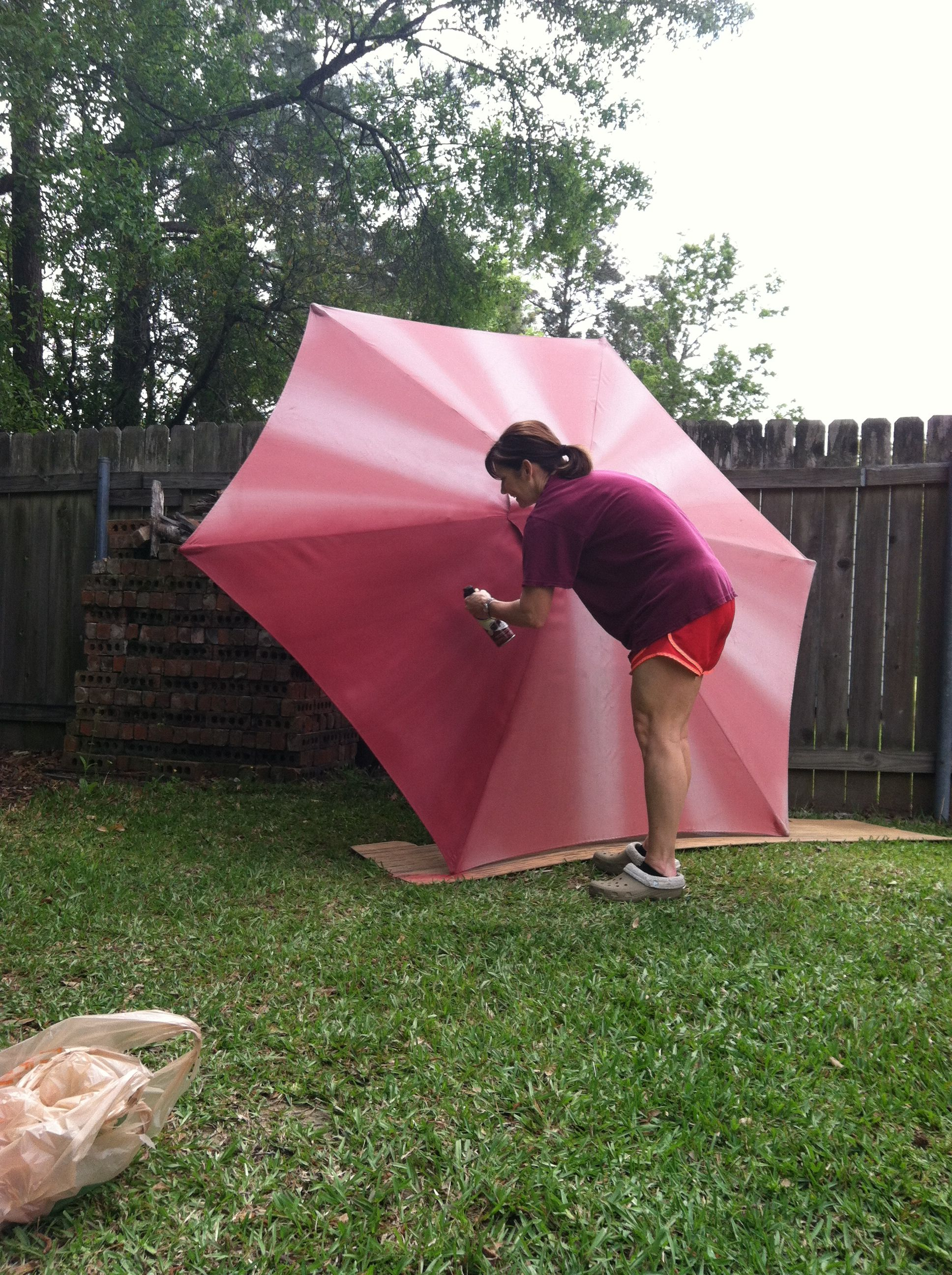 Spray Paint Outdoor Umbrella For The Home Pinterest Outdoor
