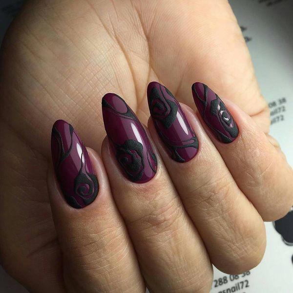 44 Burgundy Nail Art Ideas for Trendy Women | Nägel