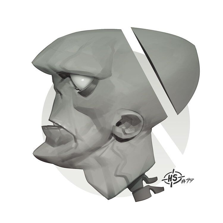 Headshot #99 Zomvie profile. #drawing #illustration #digital #art #zombie #profile #portrait #headshot #grecke