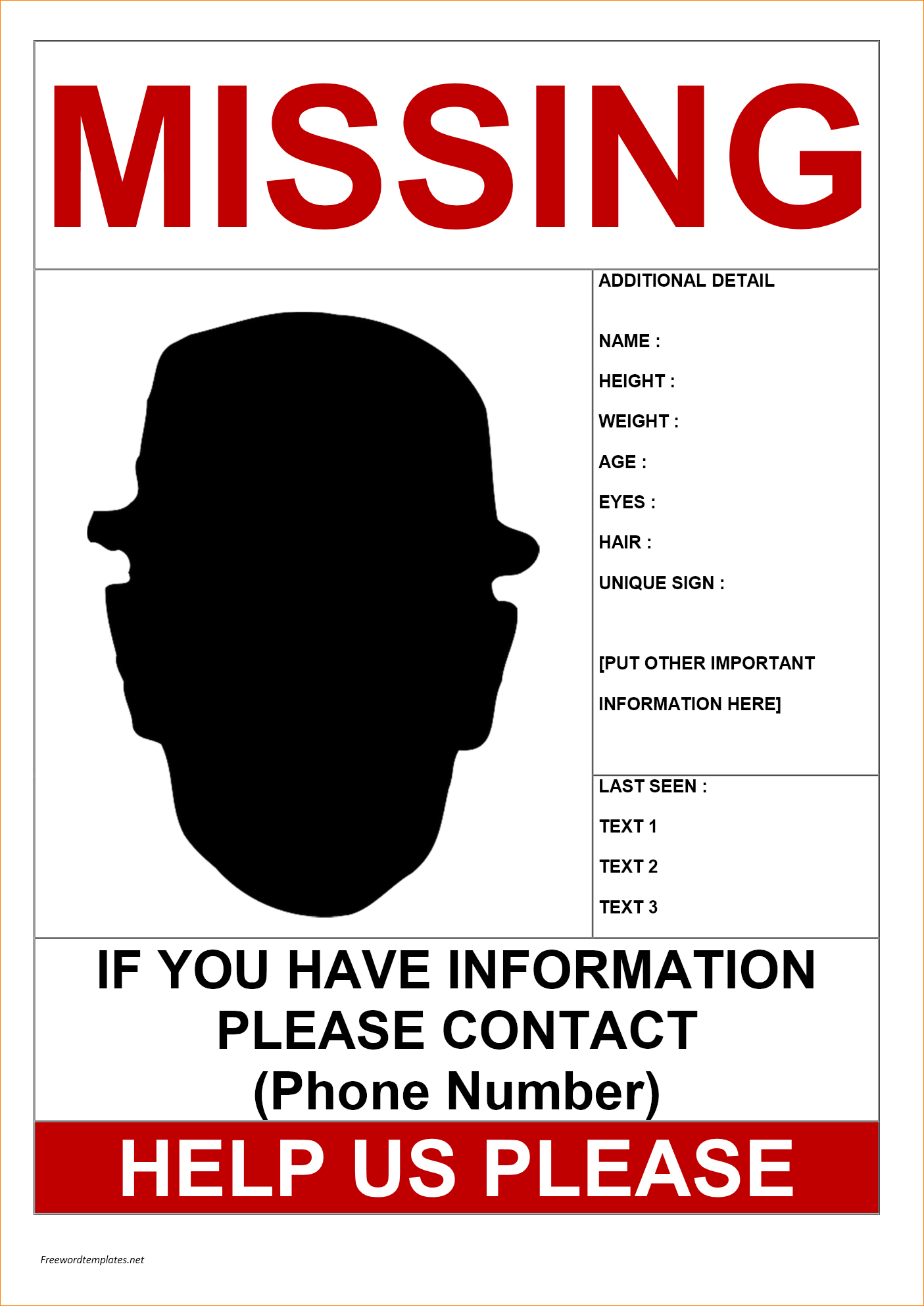 11 Missing Person Poster Templates