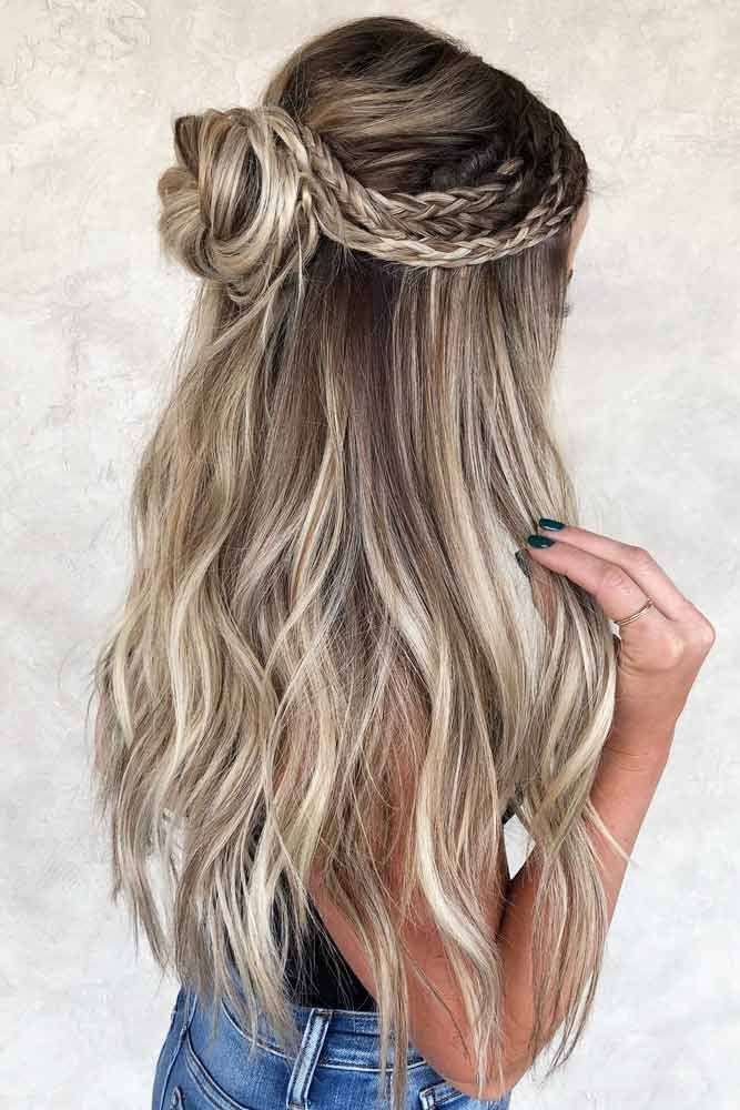 18 Schöne Ferien Half Up Frisuren für langes Haar – Samantha Fashion Life