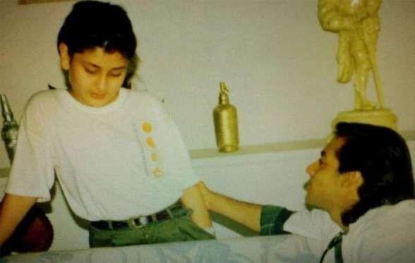 Childhood Photos Of Bollywood Stars Bollywood Celebrities Kareena Kapoor Childhood Photos