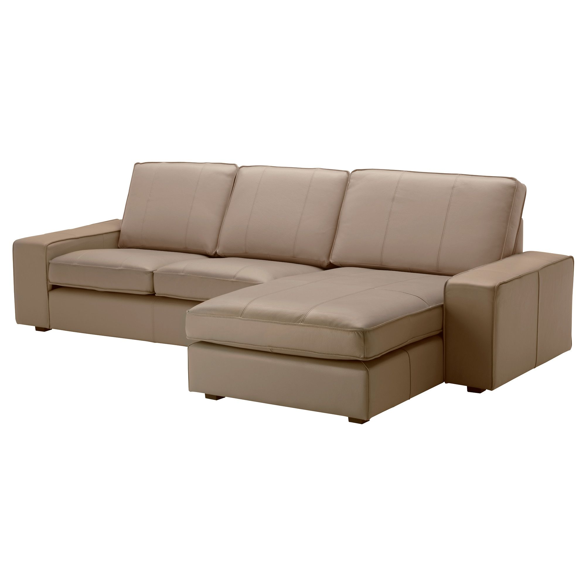Kivik Sessel Ikea Kivik Loveseat And Chaise Lounge Grann Beige A Lighter