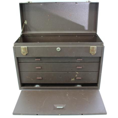 Machinist Tools For Sale >> For Sale Vintage Kennedy Machinists Tool Chest Box 3 Drawer