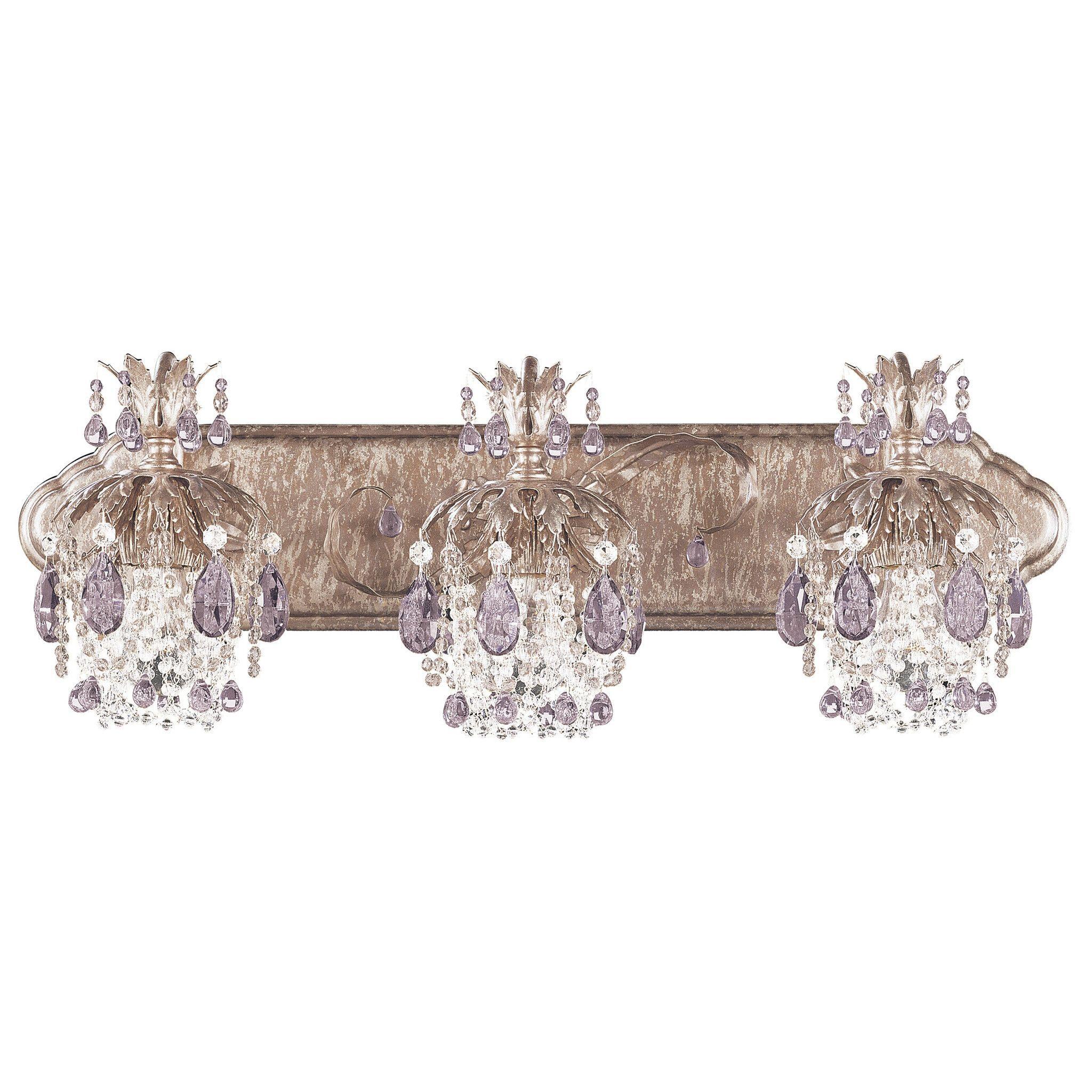 Schonbek 1256 Rondelle 8 Inch Bath Vanity Light Crystal Bathroom