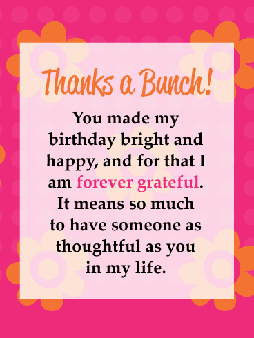 Colorful Floral Background Thank You Cards For Birthday Wishes Birthday Greeting Cards By Davia Thanks For Birthday Wishes Thank You Messages For Birthday Thank You For Birthday Wishes