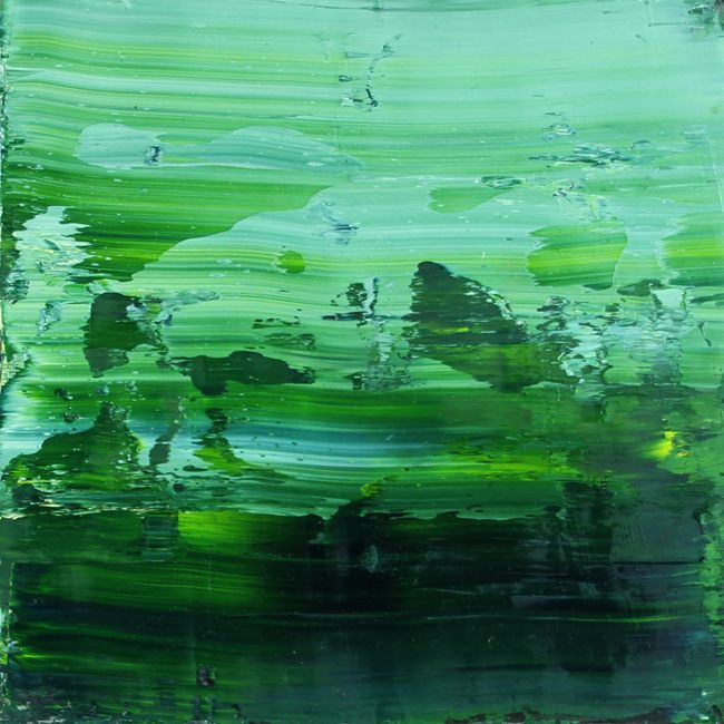 Koen Lybaert - Giverny 041 [Abstract N° 1664] - oil on canvas on wood panel [50 x 50 x 0.5 cm] / 2016