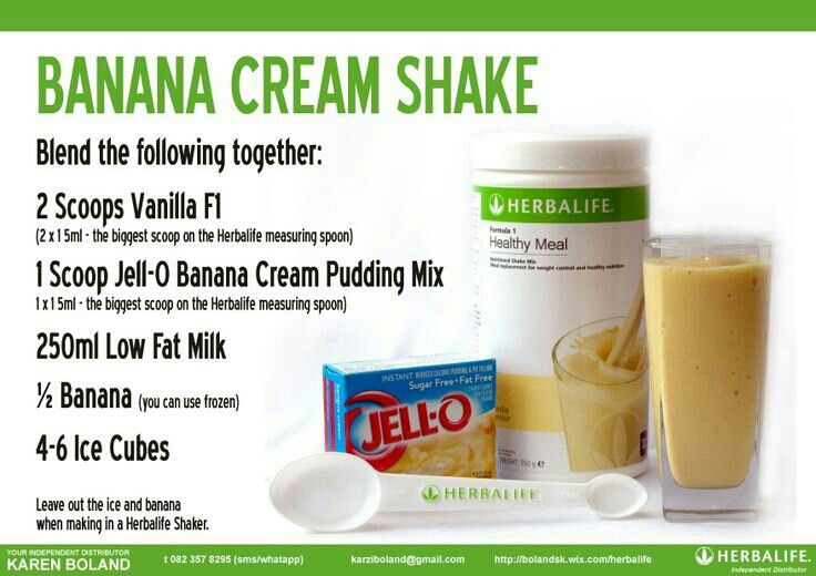 Herbalife Banana Cream Shake Herbalife Shake Recipes Herbalife Recipes Herbalife Shake