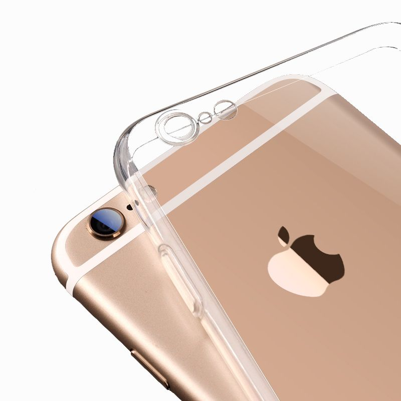 Per iPhone6 TPU Custodia Morbida Protect Copertura Della Macchina Fotografica Crystal Clear Guscio In Silicone trasparente Ultra Sottile Sottile per iPhone 6 s 7 più