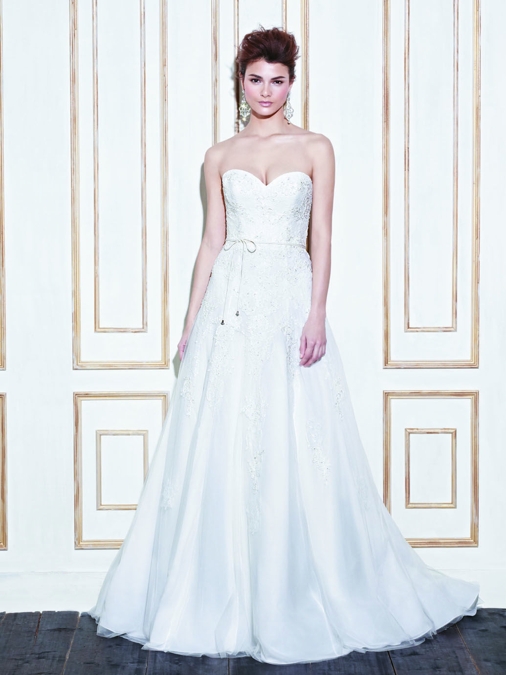 White and blue wedding dresses  GENEVA  Blue Collection  Enzoani  Available Colours  Ivory