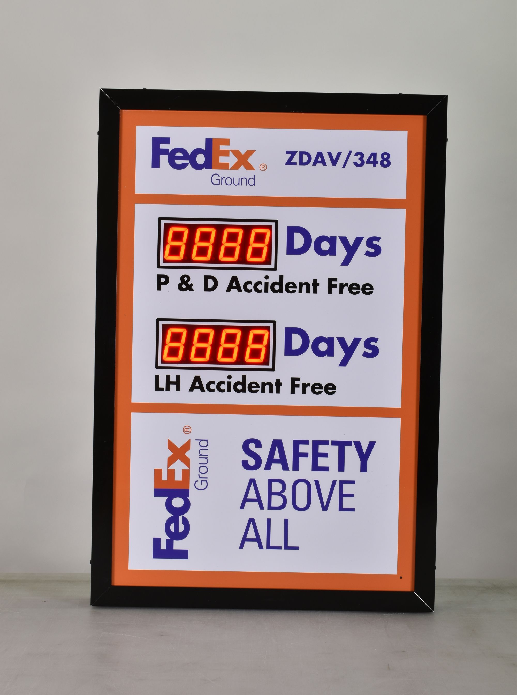 Days Without Accident Sign with Two Displays (36Hx24W