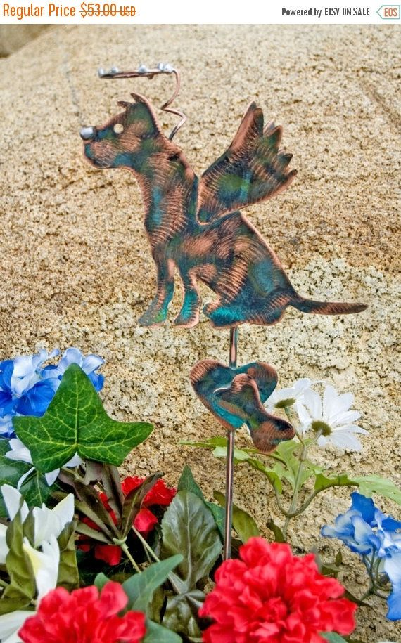 Pit Bull Garden Art Pet Memorial Garden Stake Metal Garden Art