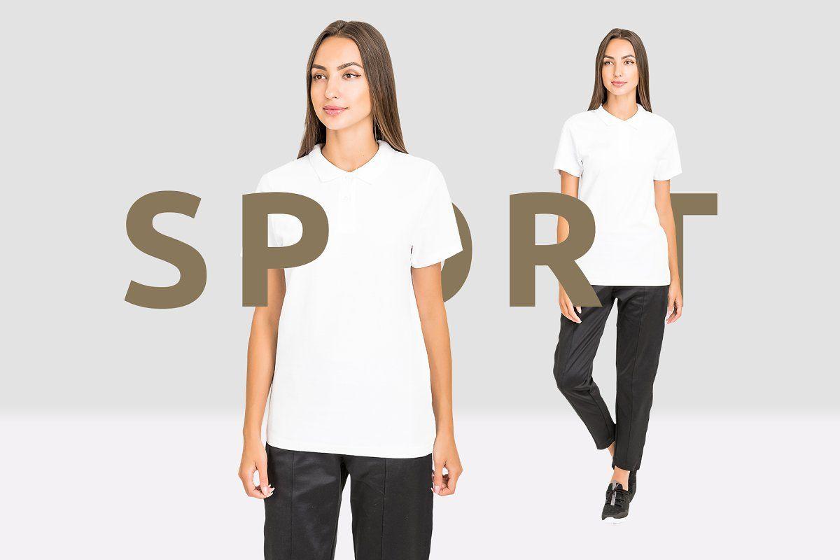 Download Women Sport T Shirt Mockup Set Sport T Shirt Sports Women Shirt Mockup