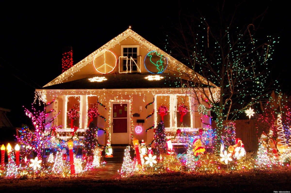Outdoor christmas light design christmas decorations Pictures of houses decorated for christmas outside