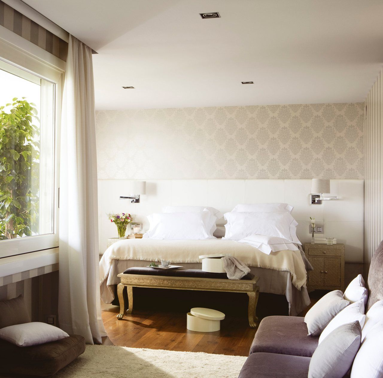 Detalles para lograr una casa m s elegante marfil papel for Papel pintado elegante