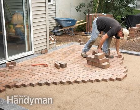 How to Cover a Concrete Patio With Pavers | Patio | Pinterest ...