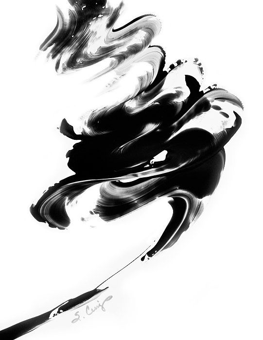 Black and White Painting BW Abstract Art Artwork High Contrast ...