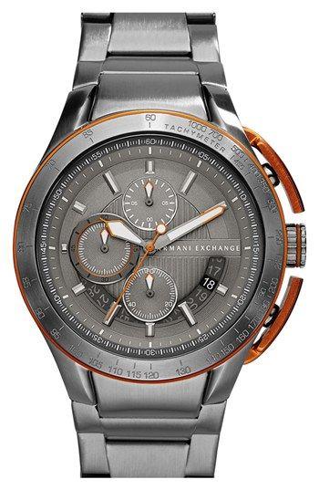 4de1cbbb62fb AX Armani Exchange Aluminum Accent Bracelet Watch