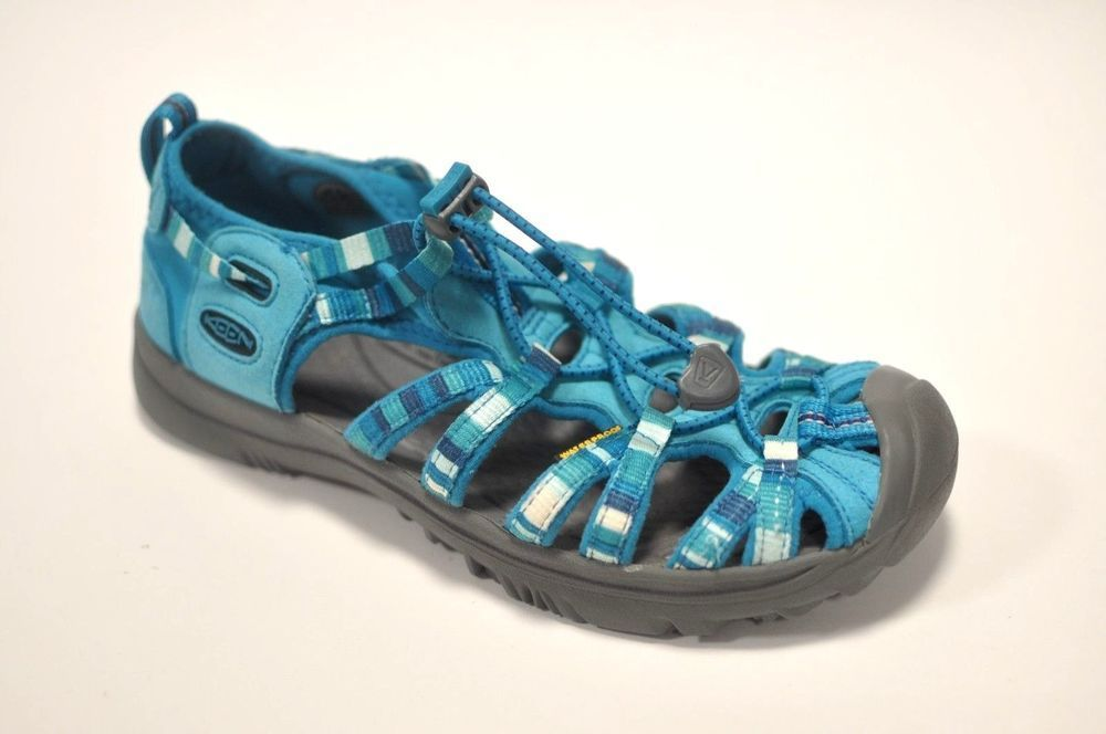 778a2f249d54 Keen Whisper Girls 5 37 Blue Aqua Multi Color Water Shoes Sandals Youth  Womens  KEEN