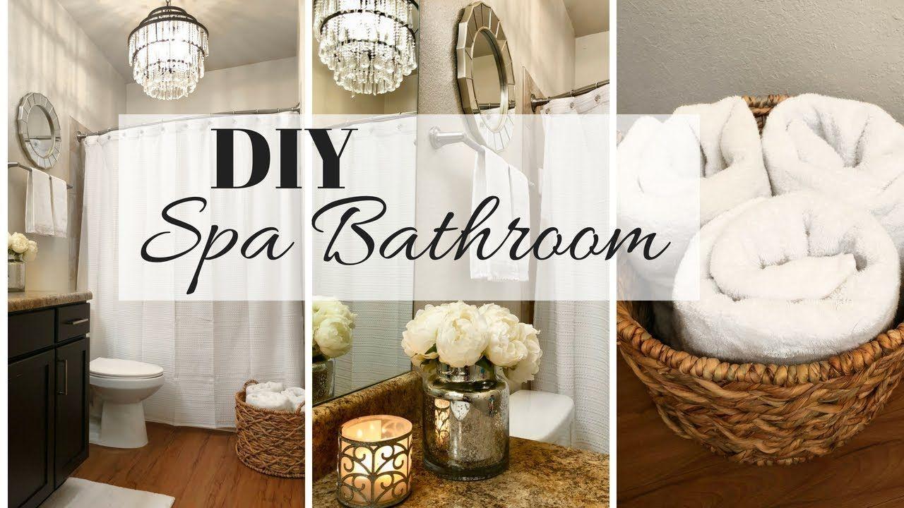 Spa Bathroom Decor Ideas Small Bathroom Makeover Youtube Spa Bathroom Decor Small Bathroom Makeover Small Bathroom Decor