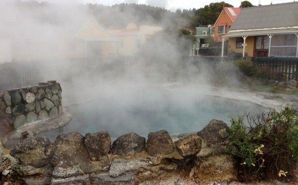 Hot springs in Rotorua village #travel #newzealand